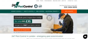 247 pest control company in london
