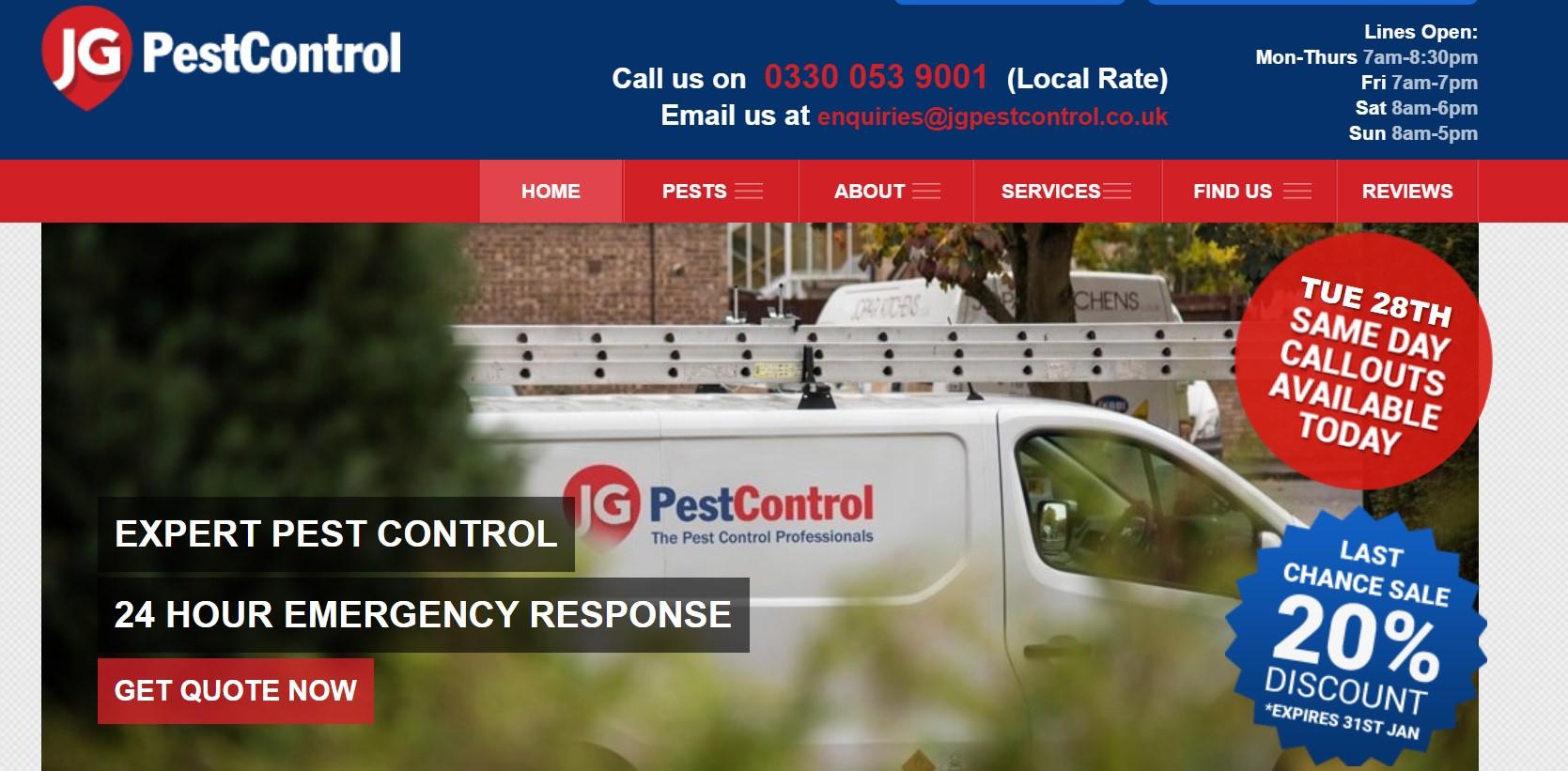 JG Pest controls services london