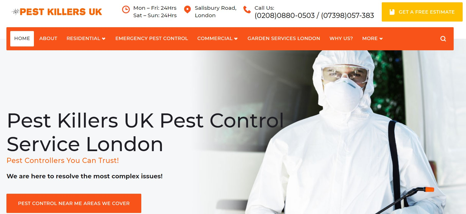 Pest Exterminators - Best Pest Control Company in London