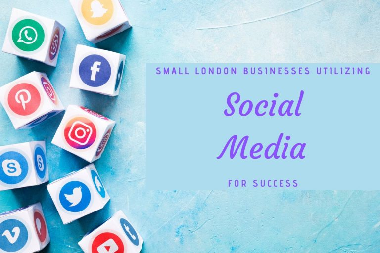 How are top small London businesses utilizing social media for success?