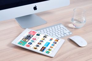 Designing website in a macbook