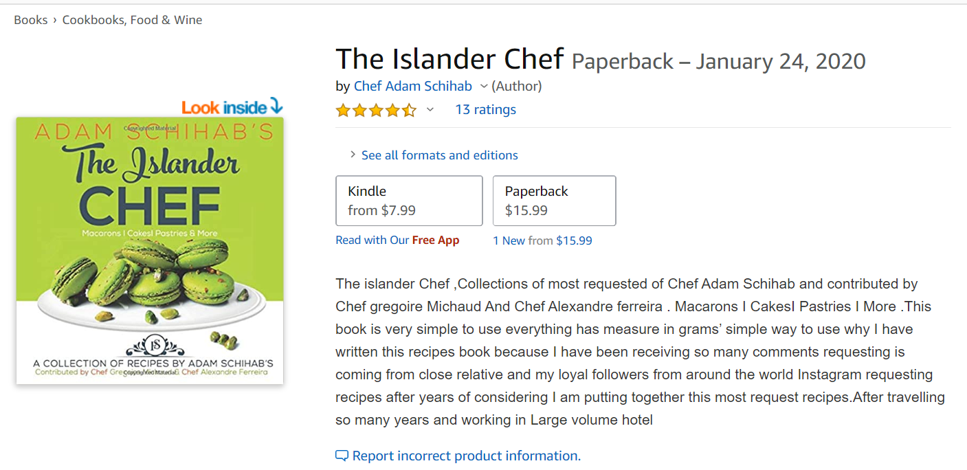 Chef Adam Schihab's Innovative Recipe Book