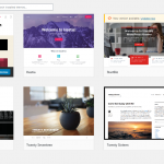 WordPress theme selection and upload
